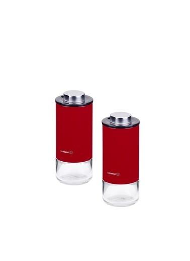 Korkmaz Stora Plus Kirmizi Tuzluk Biberlik Seti Kırmızı